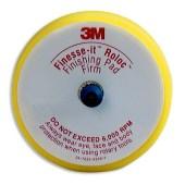 3M 14736 sponsrubber steunschijfje 76mm met klittenband en Roloc aansluiting