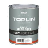 TOPLIN #2520 AQUA AFLAK HOOGGLANS (voorheen Aquamarijn LINOLUX GLANS glansverf Aqualin) watergedragen oplosmiddelvrije glansverf aflak + GRATIS MOTAS.NL katoenen tas (zolang de voorraad strekt)