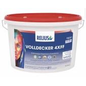 RELIUS Volldecker 4xff zeer goed dekkende extra matte muurverf in heldere volle kleuren voor binnen per 12,5 liter wit of op kleur
