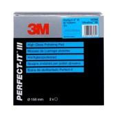 3M 50388 wafelpad 150mm Perfect-it III Ultrafine SE blauw 2 stuks