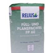 RELIUS Fullspachtel und Planspachtel FP 60 Gladstrijk en vulmiddel voor binnen 5kg