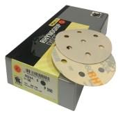Indasa Plus Line schuurpapier schijven 90mm met 7 gaten past op ROTEX 90 per 50 of 100 stuks