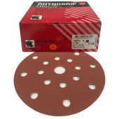 Indasa Rhynogrip RED Line 150mm met ROTEX en ETS 150 compatible 8 + 8 + 1 gaten per 50 schijven