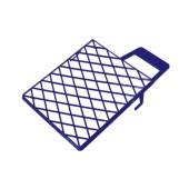 Verfverdeelrooster 22 x 26cm verfroosters voor in 8 liter emmer (blauw of grijs afhankelijk van voorraad)