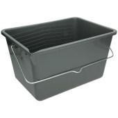 Anza Verfemmer grijs of zwart 12 liter met beugel en inhoudsindicatie