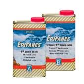 Epifanes PP Vernis Extra 2-componenten hoogglanzende en hoogvullende vernis set met verharder