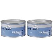 KRISTAL 2K epoxy houtrotrenovatie vulpasta compound per 2000ml - ook voor de jachtbouw - actie 1=2