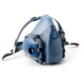 3M 7501, 7502 of 7503 Reusable Half Face Mask Respirator los masker ZONDER dampfilter (3M 06911/06915) ZONDER stoffilter (3M 06925) ZONDER plastic filterhouder (3M 501) - UIT VOORRAAD LEVERBAAR