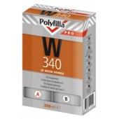 Polyfilla PRO W340 epoxy-vrije 2K Houtprimer per set van 200ml (opvolger van Sikkens WR Primer) - aantrekkelijke staffelprijzen