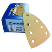 Hamach Dynamic Delta schuurpapier klittenband Sheet met 7 gaten 50 stuks