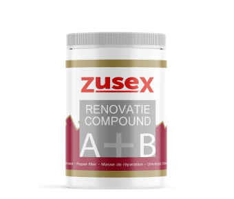 Zusex 2-componenten vulpasta renovatie-compound vulmassa IN TWEE POTJES IN EEN POT - NIEUWSTE VERPAKKING
