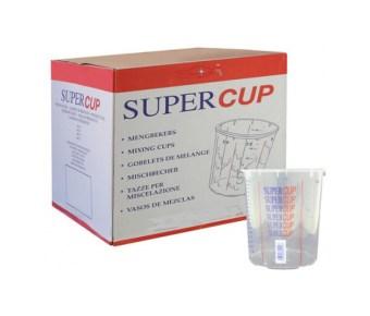 Supercup bedrukte mengbekers 2240 ml per 200 stuks