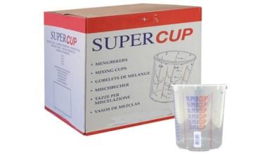 Supercup bedrukte mengbekers 650 ml per 200 stuks