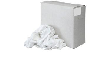 Witte tricot lappen per 10kg