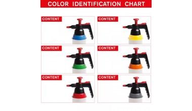 Colad pompvloeistofspuit met 6 kleurcodeerringen