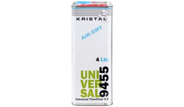 KRISTAL Universal TimeClear 3.0 snel luchtdrogende blanke lak + GRATIS DOOS MIRKA Q.SILVER ACE 150mm naar keuze (geldt alleen bij complete 6-liter set)