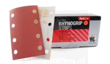 Indasa Rhynogrip RED Line klittenband Strips 81x133mm voor RTS 400 en LE 71/21 met 8 gaten 50 stuks