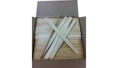 Houten verfroerders roerhoutjes 400 x 28 x 4mm onbedrukte mengspatels per 500 stuks